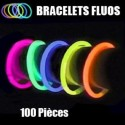 100 bracelets lumineux multicolores chimioluminescents