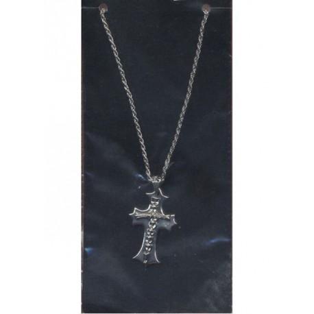 chaine-croix-gothique-avec-colonne-vertebrale-couleur-argent