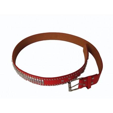 ceinture-simili-cuir-rouge-avec-clou-et-boucle-en-metal