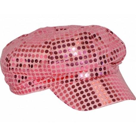 casquette-disco-rose-paillettes