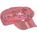 Casquette Disco rose paillettes