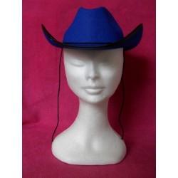 Chapeau bleu de cow-boy enfant