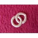 1 Alliance en tissu ivoire Décoration de table