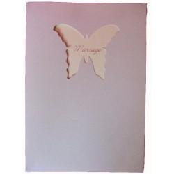Livre d'or grège nacré et ivoire fenêtre en forme de papillon