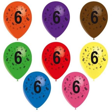 8-ballons-de-baudruche-chiffre-6-decores-tout-autour-o-30-cm