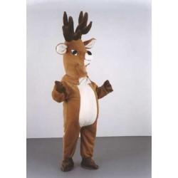 cerf-marron-peluche-grosse-tete-mascotte