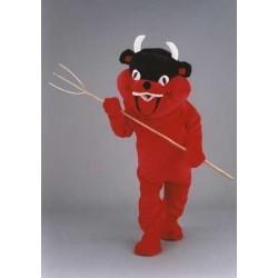 Un bon petit diable rouge peluche Grosse tête Mascotte