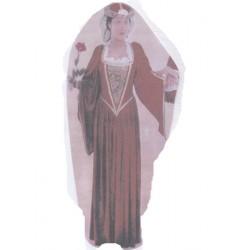 Damoiselle rouge lady dame médiévale