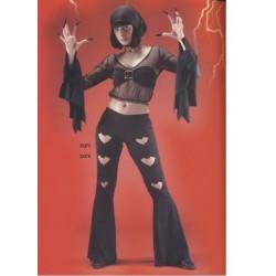 Ensemble disco Bat pantalon patdef noir taille S déguisement pour Halloween