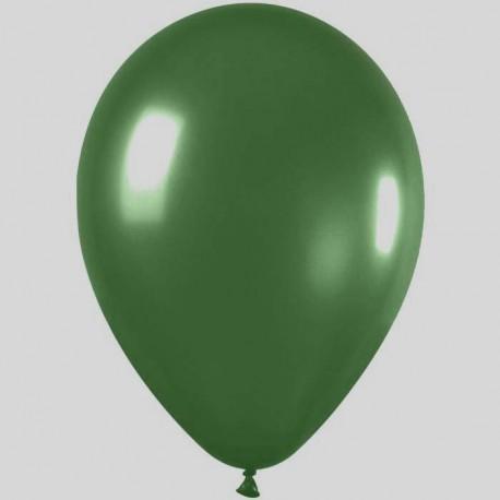 100-ballons-de-baudruche-metal-vert-bouteille-o-29-cm