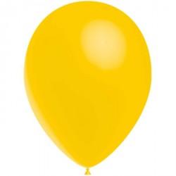 100 ballons de baudruche standard jaune d'or 30 cm Ø