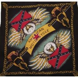 Bandana Foulard carré American Motorcycle Aigle USA 100 % coton