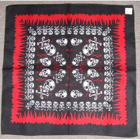bandana-tete-de-mort-sur-fond-noir-encadre-rouge