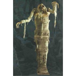 Momie affreuse Statue Momie effrayante 1,5 m Hyper décoration pour Halloween