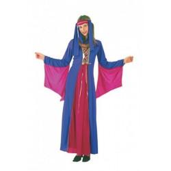 Princesse médiévale fuschia et violette