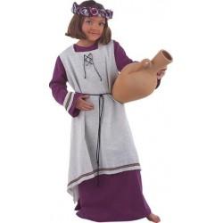 Paysanne médiévale violette et grise