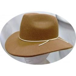 Chapeau d'Indiana Jones en feutrine marron forme australienne