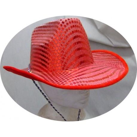 chapeau-de-cow-boy-paillete-rouge