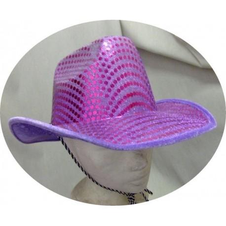 chapeau-de-cow-boy-paillete-violet