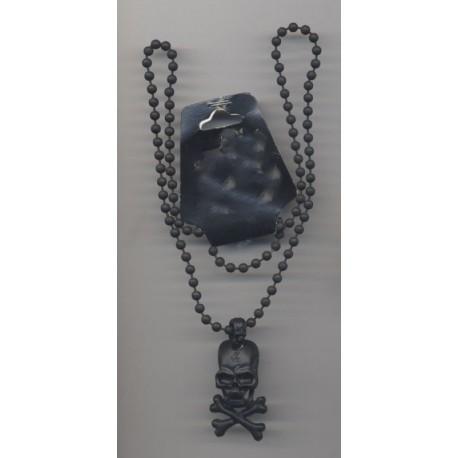 collier-de-pirate-noir-tete-de-mort-crane-sur-chaine-boules