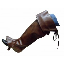 Couvre bottes de pirate Surbottes façon cuir marron