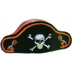 Bicorne de pirate en carton chapeau de déguisement