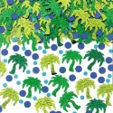 Confettis de table palmiers verts et points bleus 14gr