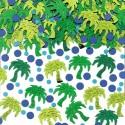 Confettis de table palmiers verts et points bleus 14gr
