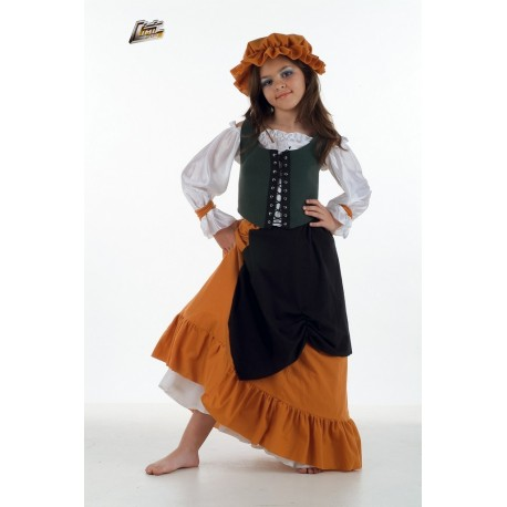 medievale-serveuse-verte-et-ocre